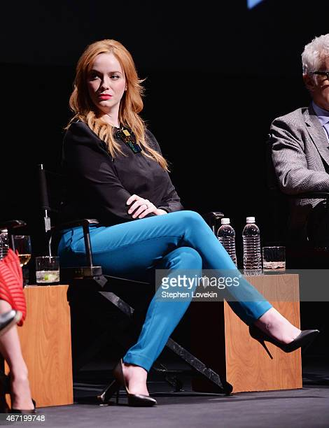 Christina Hendricks attends the 'Mad Men' special screening at The Film Society of Lincoln Center on March 21 2015 in New York City