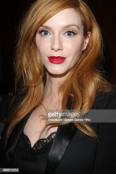 Christina Hendricks attends the Marchesa show as a part of Spring 2016 New York Fashion Week on September 16 2015 in New York City