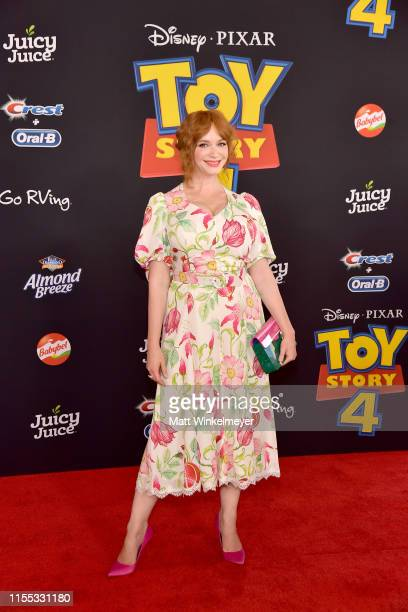 Christina Hendricks attends the premiere of Disney and Pixar's Toy Story 4 on June 11 2019 in Los Angeles California