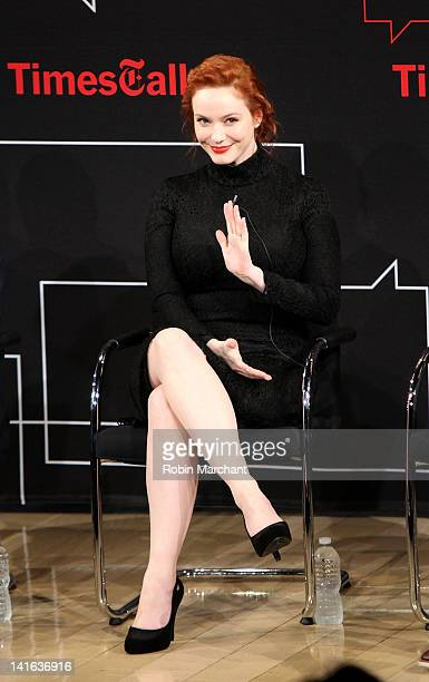 Christina Hendricks attends the TimesTalk A Conversation with the Cast of 'Mad Men' at The Times Center on March 20 2012 in New York City