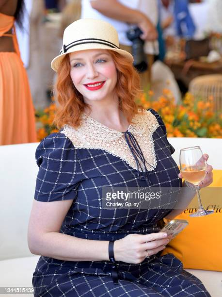 Christina Hendricks attends the Veuve Clicquot Polo Classic Los Angeles at Will Rogers State Historic Park on October 02, 2021 in Pacific Palisades,...