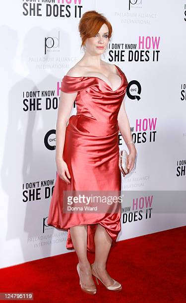 Christina Hendricks attends The Weinstein Company The Cinema Society With QVC Palladium premiere of I Don't Know How She Does It at AMC Loews Lincoln...