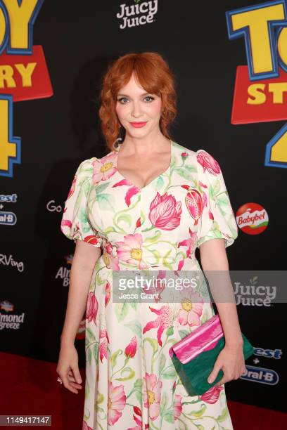 Christina Hendricks attends the world premiere of Disney and Pixar's TOY STORY 4 at the El Capitan Theatre in Hollywood CA on Tuesday June 11 2019