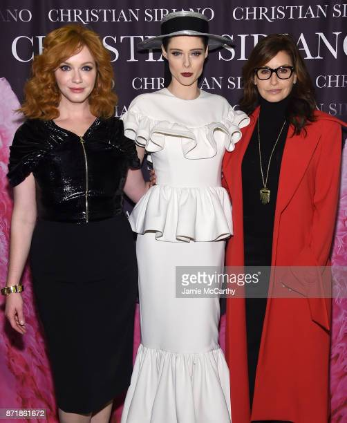 Christina Hendricks Coco Rocha and Gina Gershon attend Christian Siriano celebrates the release of his book 'Dresses To Dream About' at the Rizzoli...