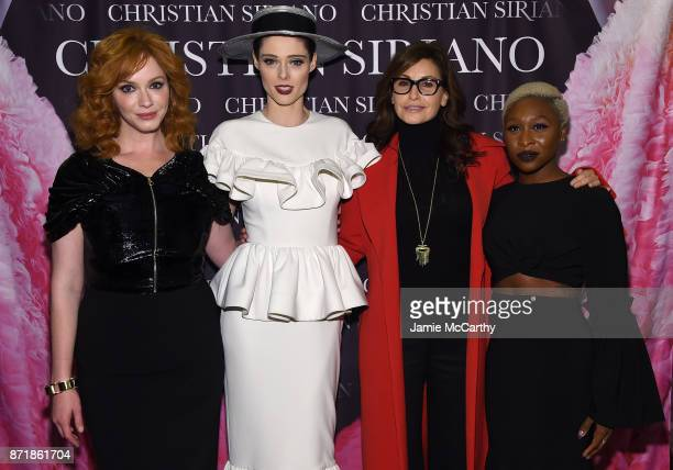 Christina Hendricks Coco Rocha Gina Gershon and Cynthia Erivo attend Christian Siriano celebrates the release of his book 'Dresses To Dream About' at...