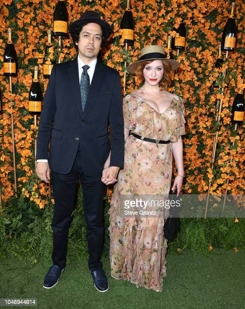 Christina Hendricks Geoffrey Arend arrives at the 9th Annual Veuve Clicquot Polo Classic Los Angeles at Will Rogers State Historic Park on October 6...