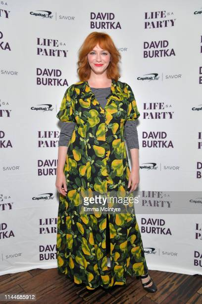 Christina Hendricks is seen as cookbook author David Burtka and husband Neil Patrick Harris celebrate the launch of Life Is a Party with the Capital...