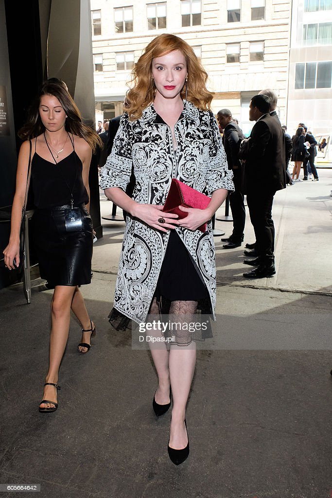 Christina Hendricks is seen during New York Fashion Week: The Shows at Skylight at Moynihan Station on September 14, 2016 in New York City.