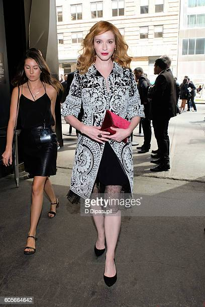 Christina Hendricks is seen during New York Fashion Week The Shows at Skylight at Moynihan Station on September 14 2016 in New York City