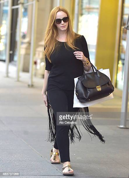 Christina Hendricks is seen in Midtown on August 12 2015 in New York City