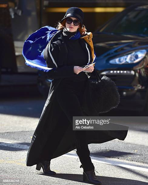 Christina Hendricks is seen in Soho on November 3 2014 in New York City