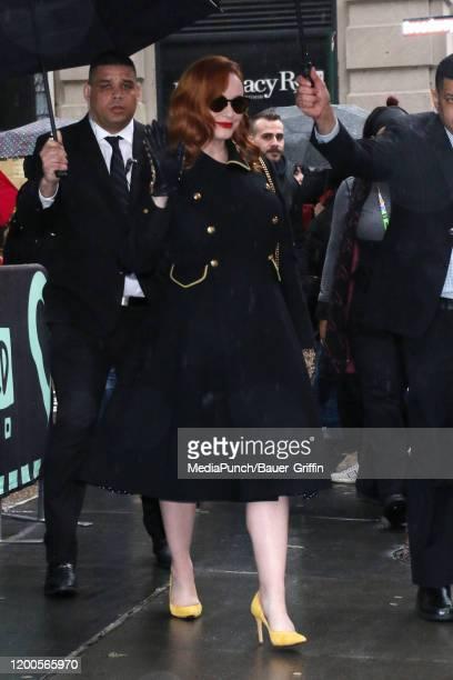 Christina Hendricks is seen on February 13 2020 in New York City