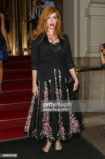 Christina Hendricks is seen on September 16 2015 in New York City