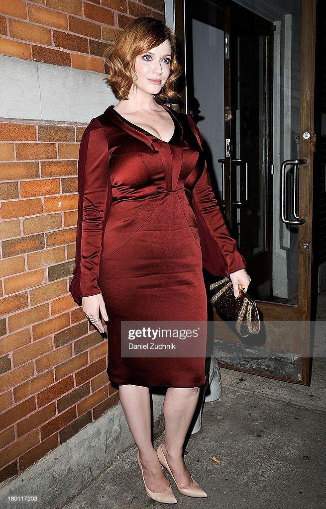 Christina Hendricks is seen outside the Zac Posen show on September 8, 2013 in New York City.