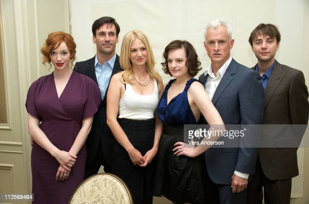 Christina Hendricks Jon Hamm January Jones Elisabeth Moss John Slattery and Vincent Kartheiser at the Mad Men press conference at Four Seasons Hotel...