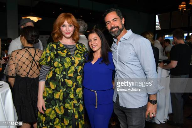 Christina Hendricks Lily Pino and Danny Pino are seen as cookbook author David Burtka and husband Neil Patrick Harris celebrate the launch of Life Is...