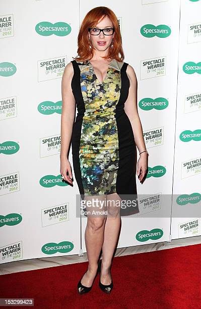 918e74778e88 Christina Hendricks poses at Specsavers  2012 Spectacle Wearer of the Year  event on October 3