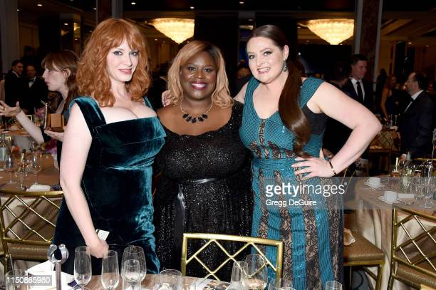Christina Hendricks Retta and Lauren Ash at the 44th Annual Gracies Awards hosted by The Alliance for Women in Media Foundation on May 21 2019 at the...