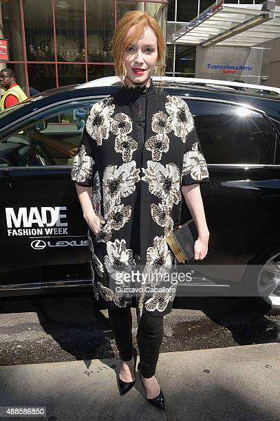 Christina Hendricks seen around Spring 2016 New York Fashion Week The Shows Day 7 on September 16 2015 in New York City