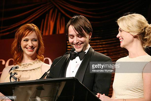 Christina Hendricks Vincent Kartheiser and January Jones at The 10th Annual Costume Designers Guild Awards held at The Beverly Wilshire Hotel on...