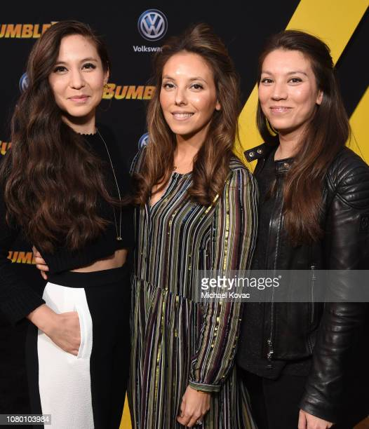 Christina Hodson and family attend the global premiere of Paramount Pictures' film 'Bumblebee' on December 09 2018 in Hollywood California