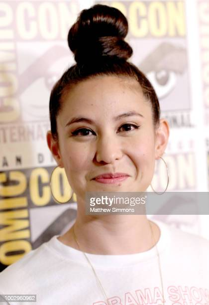 Christina Hodson attends the red carpet for 'Bumblebee' at ComicCon International 2018 on July 20 2018 in San Diego California