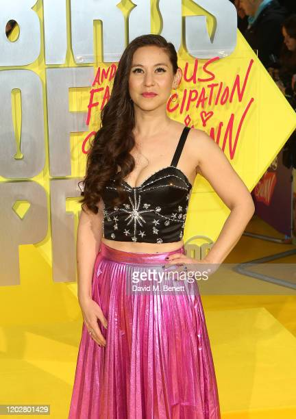 Christina Hodson attends the World Premiere of Birds Of Prey at the Odeon IMAX Waterloo on January 29 2020 in London England