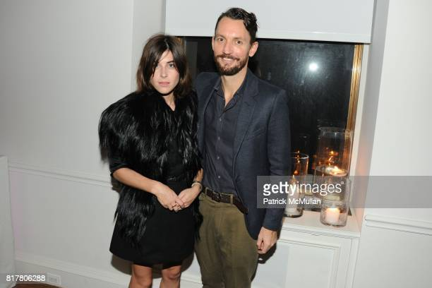 Christina Hudson and Clay Hudson attend CFDA 2010 New Members Party hosted by VERA WANG at The Home of Vera Wang on October 27 2010 in New York City
