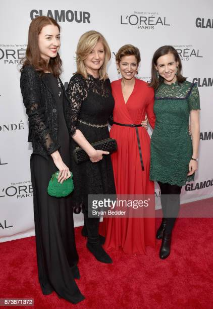 Christina Huffington Arianna Huffington and Cindi Leive attends Glamour's 2017 Women of The Year Awards at Kings Theatre on November 13 2017 in...