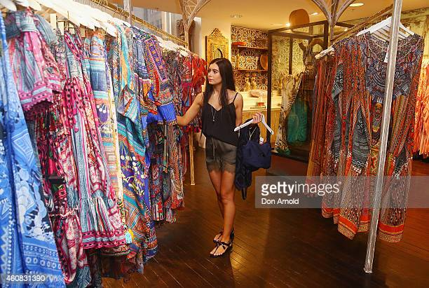 Christina Ivanovski from Wollongong browses through the 'Camilla' section during the Boxing Day Sales at the David Jones Castlereagh St store on...
