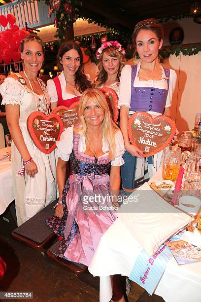 Christina Kaesshoefer , Eva Maria Reichert, Luise Baehr, Nadine Warmuth and Astrid Schormann attend the Regines Sixt Damen Wiesn during the...