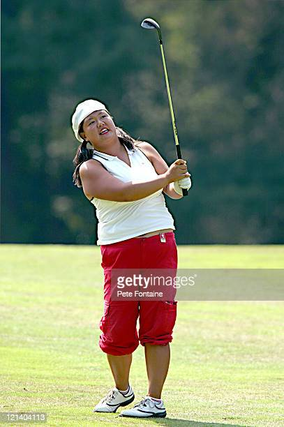 Christina Kim competes during the third round of the Weetabix Women's British Open at the Sunningdale Golf Club on July 31 2004