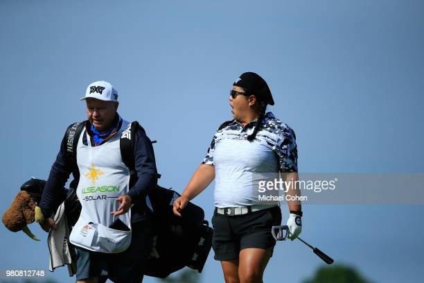 Christina Kim during the first round of the ShopRite LPGA Classic Presented by Acer on the Bay Course at Stockton Seaview Hotel and Golf Club on June...