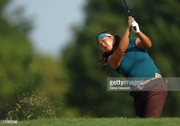 Christina Kim in action during the first round of the John Q Hammons Hotel Classic at the Cedar Ridge Country Club in Broken Arrow Oklahoma on...