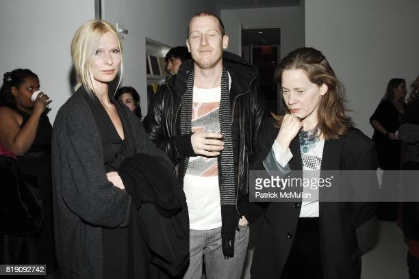 Christina Kruse Seth Carnes and L Brandon Krall attend HAUNCH OF VENISON 'Your History is Not Our History' Opening Night at Haunch of Venison on...