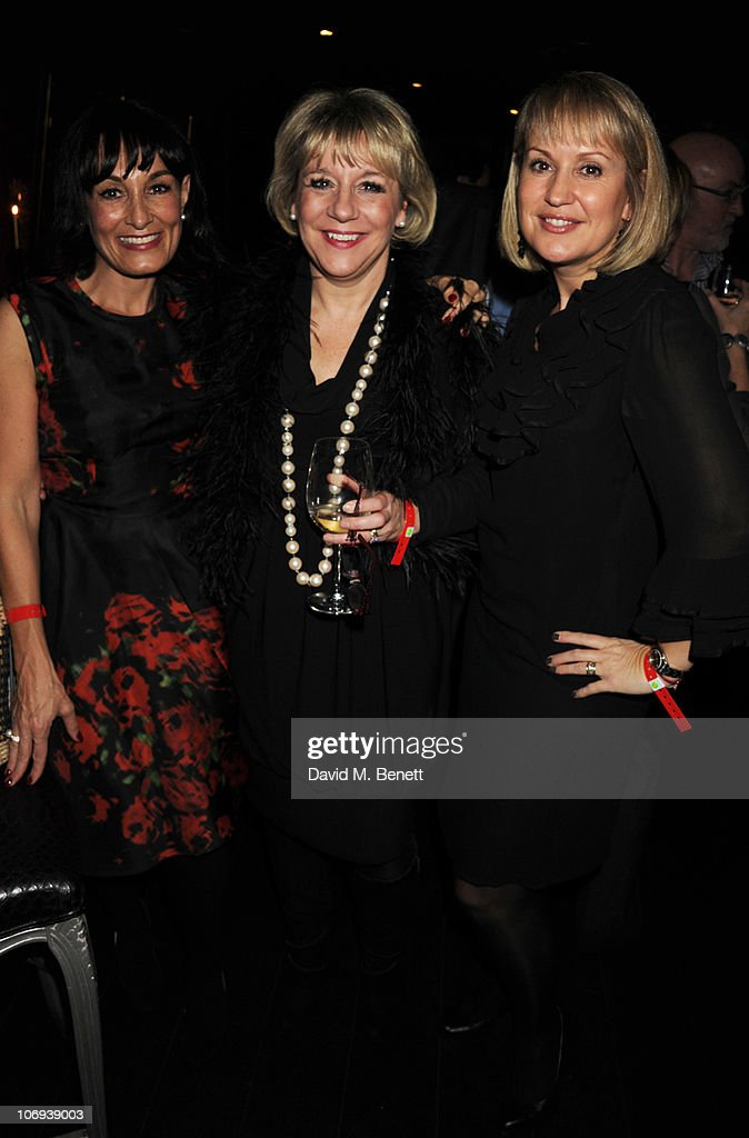 Christina Kyriacou, Martina Milburn and Nicki Chapman attend the afterparty following The Prince's Trust Rock Gala 2010 supported by Novae at The Baglioni Hotel on November 17, 2010 in London, England.
