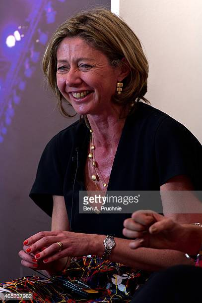 Christina Lamb attends the #Grazia10 talk 'News at 10' with Christina Lamb Jayne Secker Sue Turton Emily Maitlis and chaired by Mishal Husain...