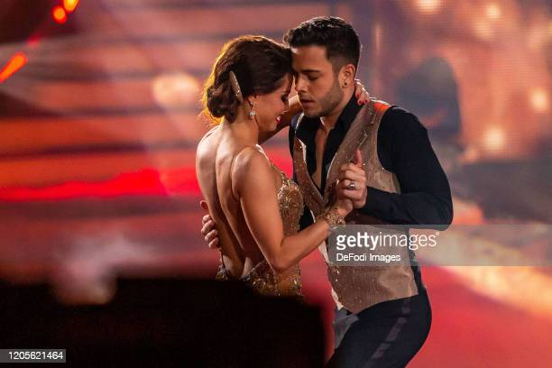 Christina Luft and Luca Haenni looks on during the 2nd show of the 13th season of the television competition Let's Dance on March 6 2020 in Cologne...