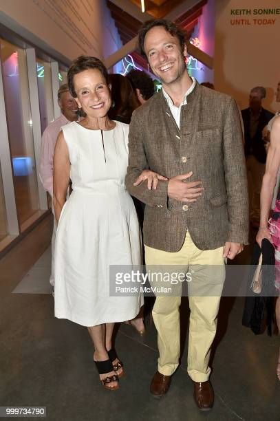 Christina MacDonald and Alex MacDonald attend the Parrish Art Museum Midsummer Party 2018 at Parrish Art Museum on July 14 2018 in Water Mill New York