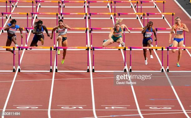 Christina Manning of the United States Dawn Harper Nelson of the United States Pamela Dutkiewicz of Germany Sally Pearson of Australia Kendra...