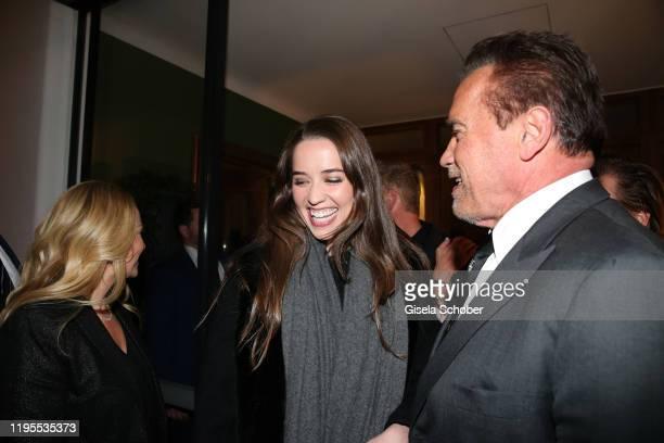 Christina Maria Aurelia Schwarzenegger daughter of Arnold Schwarzenegger and Arnold Schwarzenegger during the Schwarzenegger climate initiative...