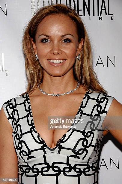 Christina Martin arrives at the Los Angeles Confidential Magazine PreGolden Globes Event at Skybar at Mondrian on January 10 2009 in Los Angeles...