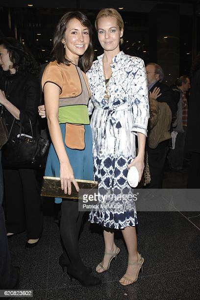 Christina Martinez and Lauren Dupont attend Opening of RICHARD DUPONT's TERMINAL STAGE at Lever House on March 13 2008 in New York City