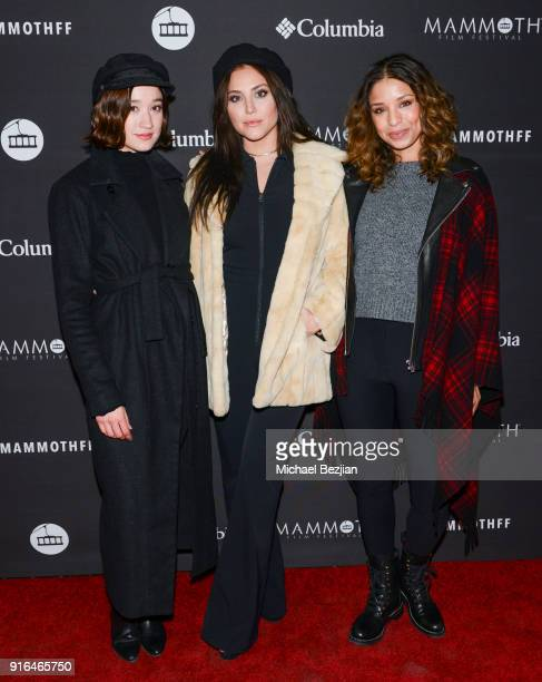 Christina Masterson Cassandra Scerbo and Brytni Sarpy arrive at premier of Truth or Dare at Inaugural Mammoth Film Festival Day 2 on February 9 2018...