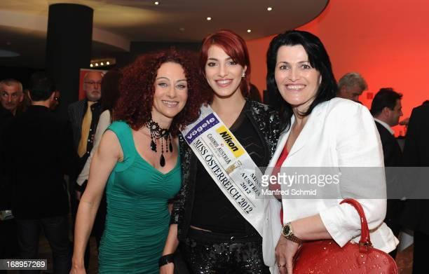 Christina Mausi Lugner Amina Dagi and Indira Dagi attend the Pro Juventute Charity Event at Studio 44 on May 16 2013 in Vienna Austria