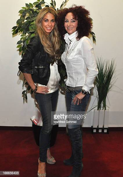 Christina Mausi Lugner and Ivonne Rueff attend the after party for the Austria premiere of 'Kiss The Coach' at Lugner Cinema Vienna on April 9 2013...