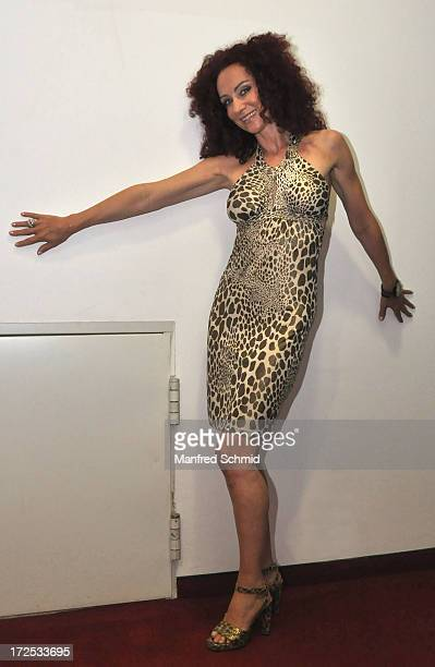 Christina Mausi Lugner poses for a photograph during the 'Taffe Maedls' movie premiere party at Lugner City on July 2 2013 in Vienna Austria