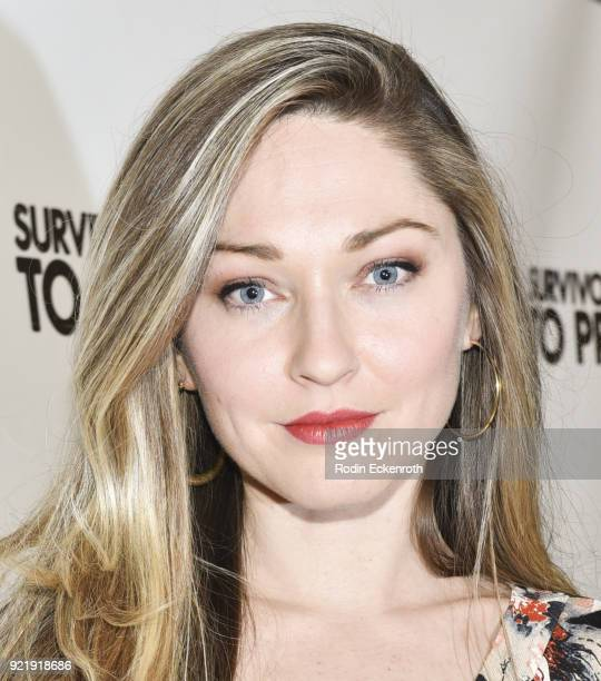 Christina McDowell attends the premiere of Gravitas Pictures' 'Survivors Guide To Prison' at The Landmark on February 20 2018 in Los Angeles...