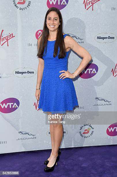 Christina McHale arrives for the WTA PreWimbledon Party at Kensington Roof Gardens on June 23 2016 in London England