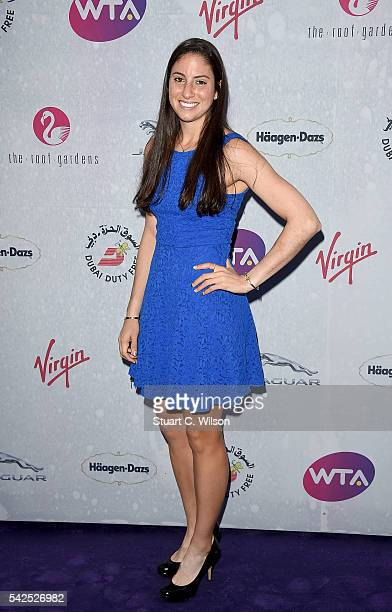 Christina McHale attends the annual WTA PreWimbledon Party presented by Dubai Duty Free at the Kensington Roof Gardens on June 23 2016 in London...
